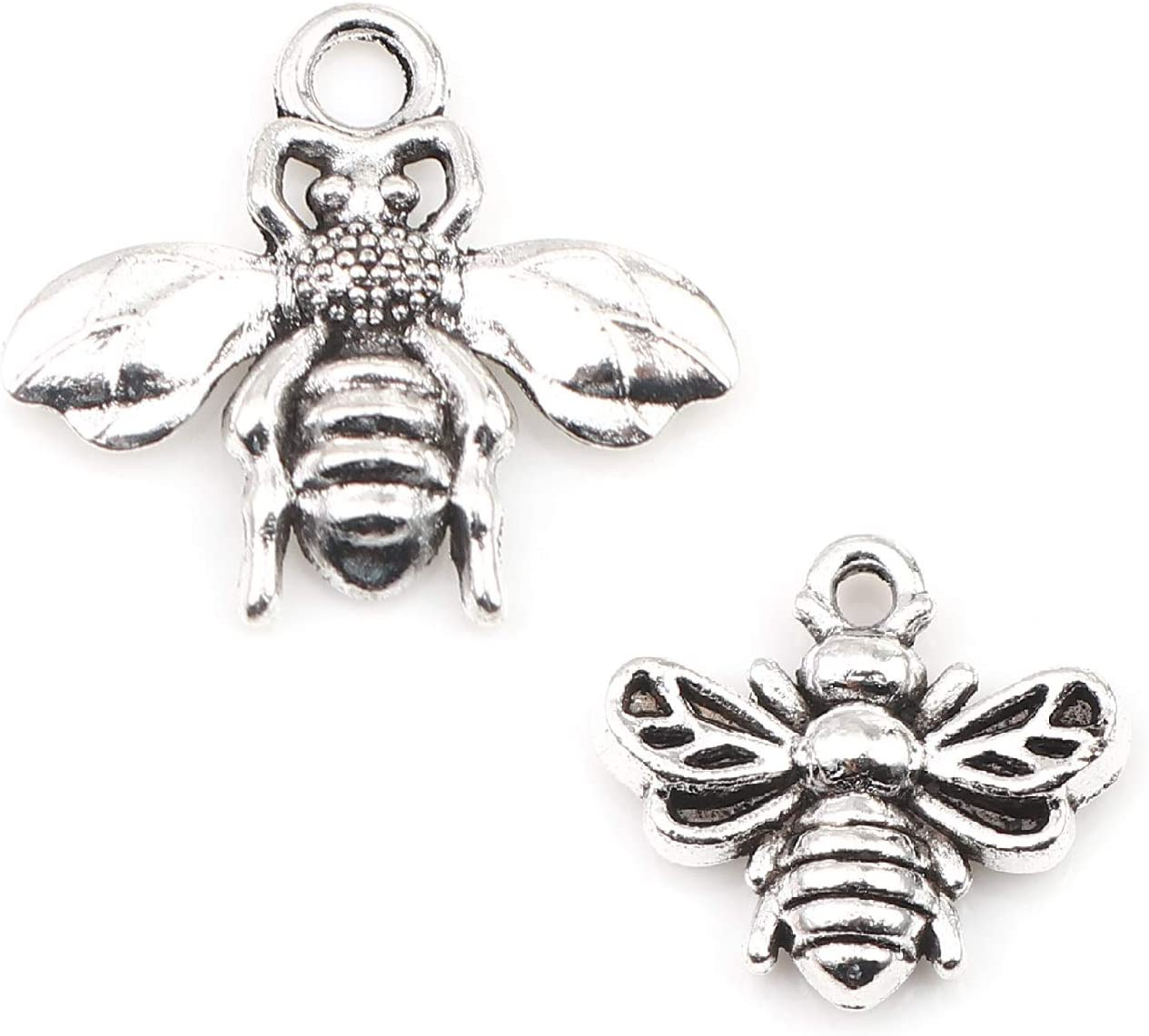 95 Pack with 1.3mm Hole Bumble Bees Spacer Bead Animal Charms