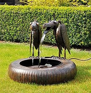 Gravidus decorativa metal Brunnen con Buitre par