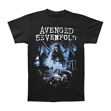 9d8aba5facb Avenged Sevenfold Pesadilla recurrente de los Hombres Camiseta Negro - -:  Amazon.es: Ropa y accesorios