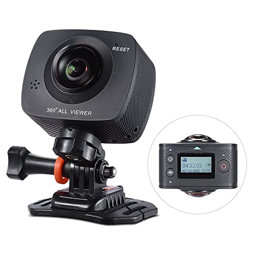 Andoer Dual-lens 360 Degree Panoramic Digital Camera Video Sports Action VR Cam 1920 * 960P 30fps HD 8MP with 220 Degree Fish Eyes Lens