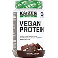 Kaizen Naturals Vegan Plant Based Protein Powder, NSF Certified, Non-GMO, Chocolate, 840g