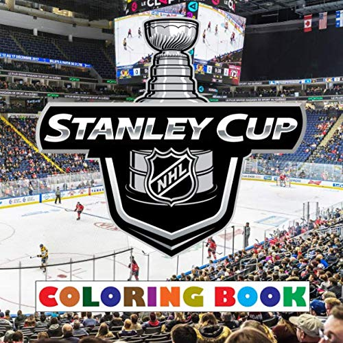 Stanley Cup Coloring Book: Super book containing every team logo from the NHL for you to color - Original birthday present / gift -