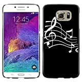 Graphic4You Music Note Pattern Design Hard Case Cover for Samsung Galaxy S6 (Black)