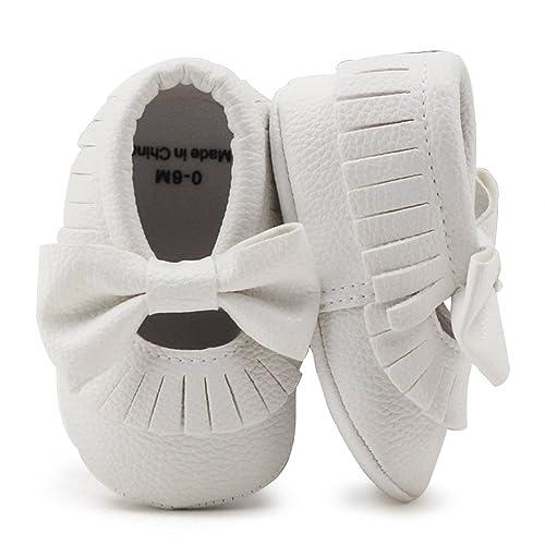 852620fb5 DELEBAO Zapatitos de Bebé Zapatos Bebe Suela Blanda Primeros Pasos Zapatos  para Caminar Cuero Bebe con
