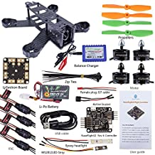SunFounder SF210 FPV Quadcopter Drone Frame Kit NazeFlight32(Compatible for Naze32 Rev 6) EMAX ESC Simon 12A Motor MT2204 Carbon Fiber Racing 5045 Propellers Battery Balance Charger for Lumenier QAV210