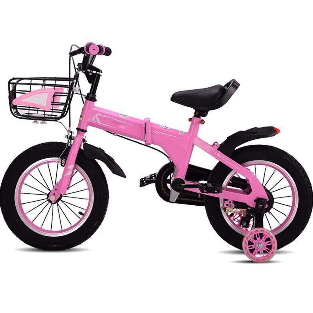 YUMEIGE キッズバイク キッズバイク キッズ自転車 12/14 / 16 /18インチ ボーイズ&ガールズ サイクリング 2~9歳のお子様に最適 ブルー イエロー ピンク 18in ピンク B07Q5KJV9S