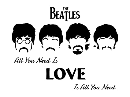 All You Need Is Love Beatles Wall Decal A Vinyl Displaying
