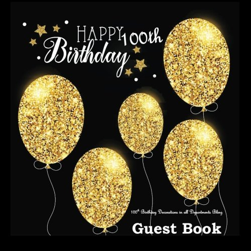 100th Birthday Decorations in All Departments: Bling GUEST BOOK Classy Silver Inside Foil Fleur de Lis End Pages 100th Birthday Decorations in Party ... (100th Birthday Guest Book) (Volume -
