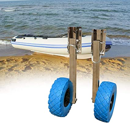 Stainless Steel Boat Transom Launching Wheel Dolly For Inflatable Boat,Dinghy