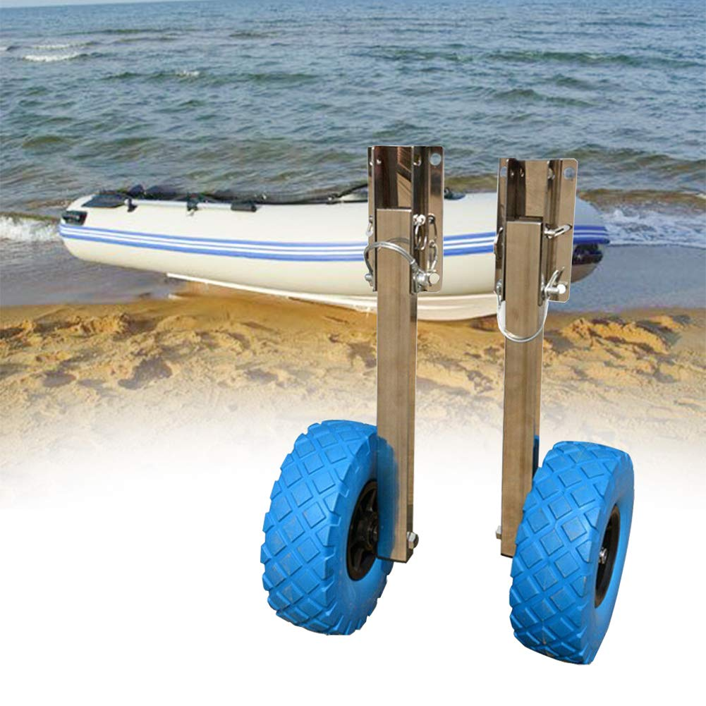 NICE CHOOSE Boat Launching Wheels, Stainless Steel Transom Launching Wheel Dolly 10'' x 3 '' Tires for Inflatable Boat (US Shipping) by NICE CHOOSE