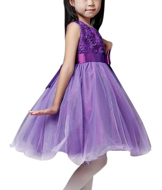Amazon.com: Kids Flower Girl Princess Dresses Ball Gown Evening ...