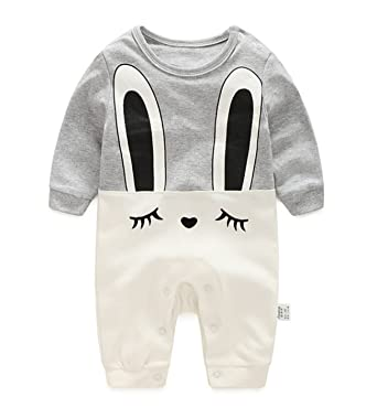 5e035714f715 Amazon.com  Newborn Baby Boys Girls Cute Rabbit Rompers Bodysuits ...