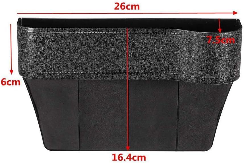 BAQI Universal Car Seat Gap Storage Box Auto Seat Grieta Organizador Funda Portavasos 26X16cm Negro