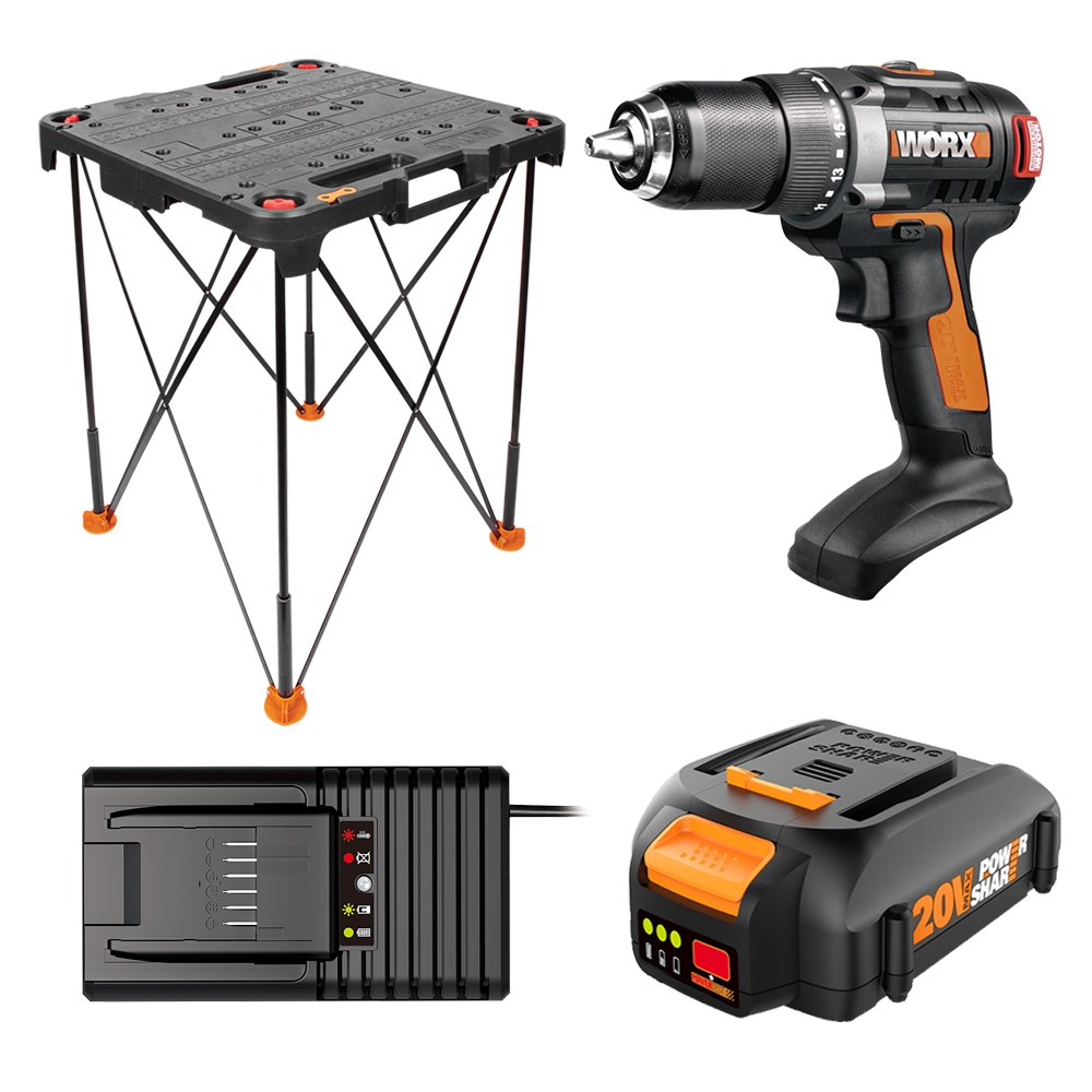 Worx WO7044 20V Drill/Driver and Sidekick Portable Work Table Combo Kit