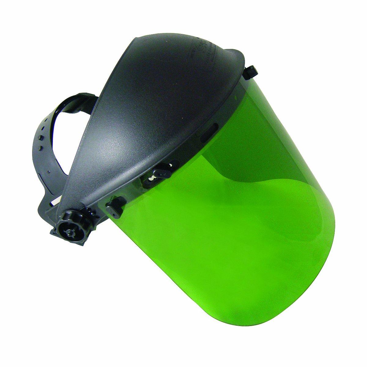 SAS Safety 5142 Standard Faceshield, Dark green