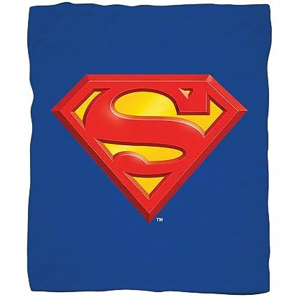 Amazoncom Jpi Superman Shield Fleece Throw Blanket For Bed