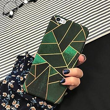 EINFFHO Coque iPhone 6 Plus/6S Plus Élégant Géométrie Mat Dur Ultra Mince Coque Cover Protecteur Bumper Premium Plastique Hardcase Fille Housse Étui ...