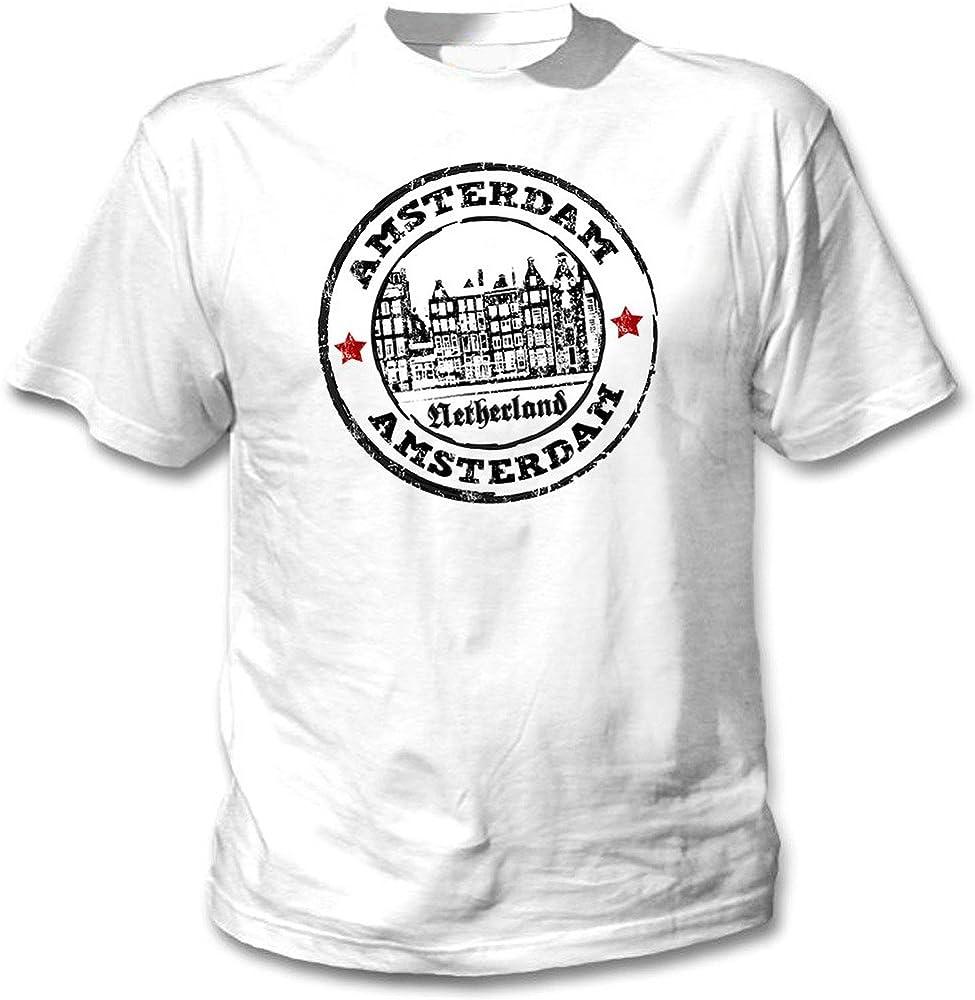 teesquare1st Amsterdam Netherlands 1 Camiseta Blanca para Hombre ...