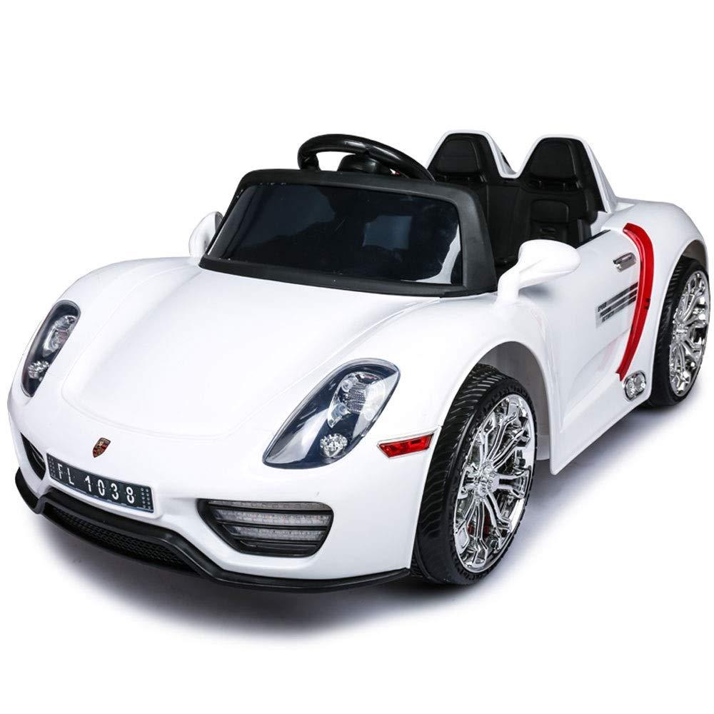 Bseion Nuovo Veicolo elettrico per bambini Trazione integrale Automobilismo per bambini con telecomando per auto a battente con apertura a distanza Porta a LED per bambini Giocattolo regalo per bambin