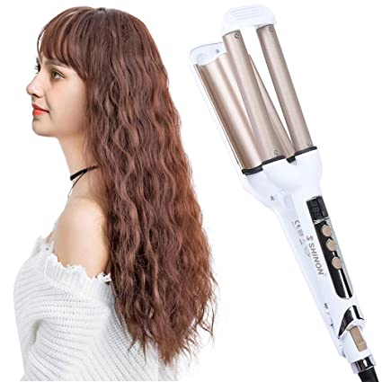 Curling Iron 3 Barrel Professional Hair Curler Curling Wand Deep Waver For Curly Hair With Adjustable Lcd Display Ceramic Hair Waver Iron Hot Tools