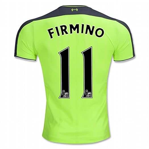 ff45b853a ... 2016-17 Liverpool FC 11 Roberto Firmino The Third Away Football Soccer Jersey  New Season Sportwear Kit 2016 ...