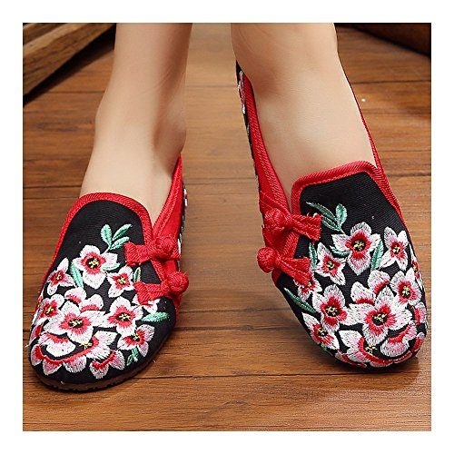 Beijing Style Cloth Old Shoes 38 Embroidered National Cowhells qXxfdx