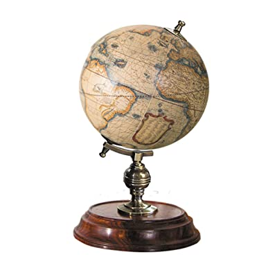 Authentic Models, GL042, Student Globe, Home Office Decor - Geographic Piece, Multi-colored & Honey Distressed French Finish: Office Products