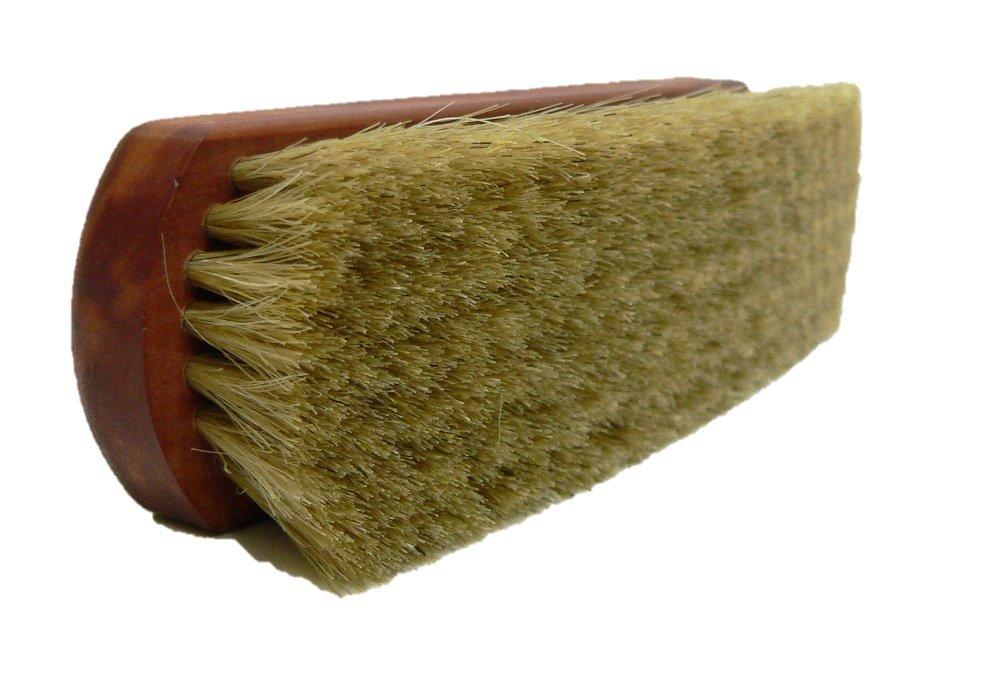 Premium Leather Shoe Shine Brush | Brilliant Outcome Polisher | Genuine Horse Hair | Made in Germany (Light Bristles)