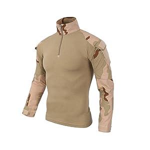 QCHENG Chemise de Combat Militaire Tactique Homme Tenue Airsoft Chasse Shirt Camouflage...