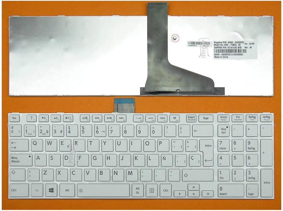 IFINGER Teclado español para Toshiba P850-31M Blanco con Marco Spare: Amazon.es: Electrónica