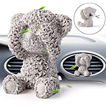 Car Diffuser Vent Clip Car Diffuser Essential Oils DIY Car Diffuser Decoration High Absorptivity Plaster Lovely Bear (Gray)
