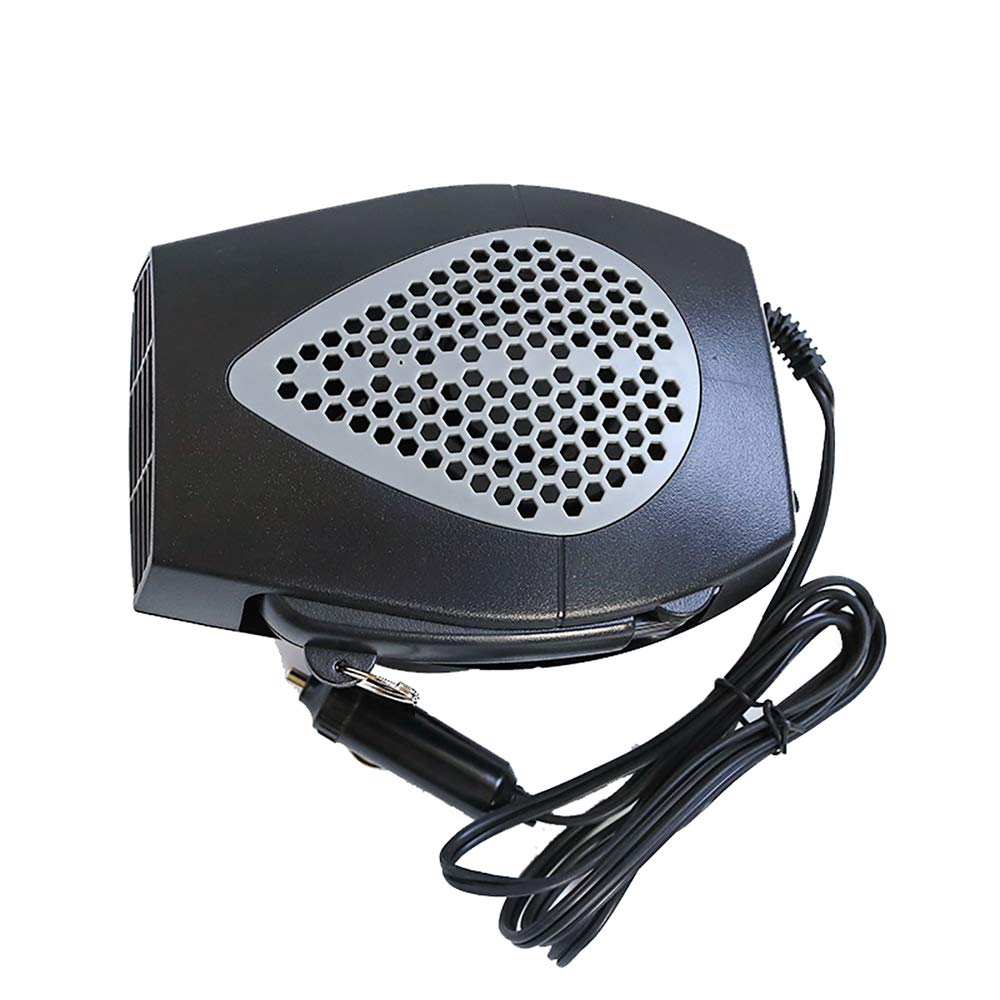TBY Auto-Heizung, Defroster Portable Auto Fenster Demister Heizung Fan Mit Klappgriff Heizung Schnell Gerä uscharm,Gray,12V