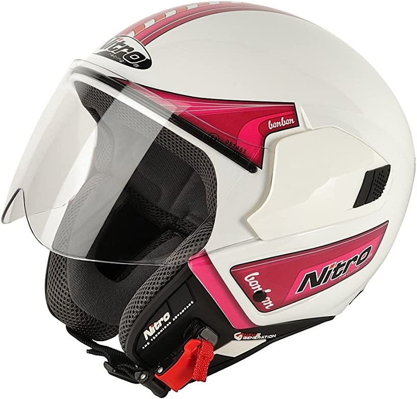 Amazon.es: Nitro 108837XL17 NGJP BONBON Casco Moto, Color ...