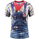 Camiseta de Fiesta Unisex Rude Stag Party Disfraz 3D Ofensive Boobs Printed tee 5502