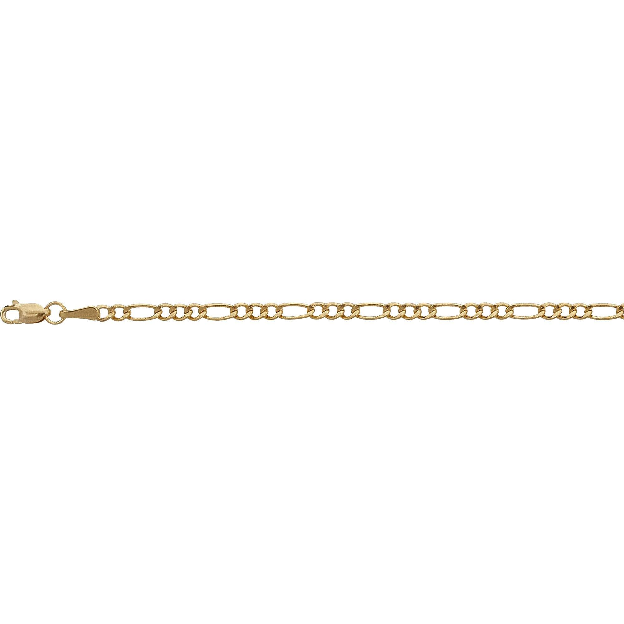 14K Yellow Gold 2.50mm 16'' Figaro Lite 060 Chain