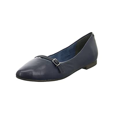 24234, Ballerines Femme, Noir (Black Leather), 36 EUTamaris