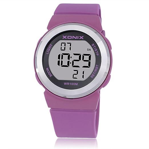 Reloj pantalla digital,Linda moda simple mate luminoso impermeable led reloj electrónico-D: Amazon.es: Relojes