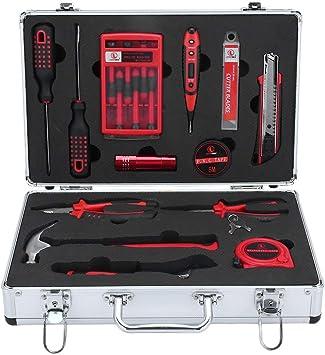 Werkzeugkoffer mit Werkzeug Set Werkzeugkasten Werkzeugkiste mit Schlagbohrer