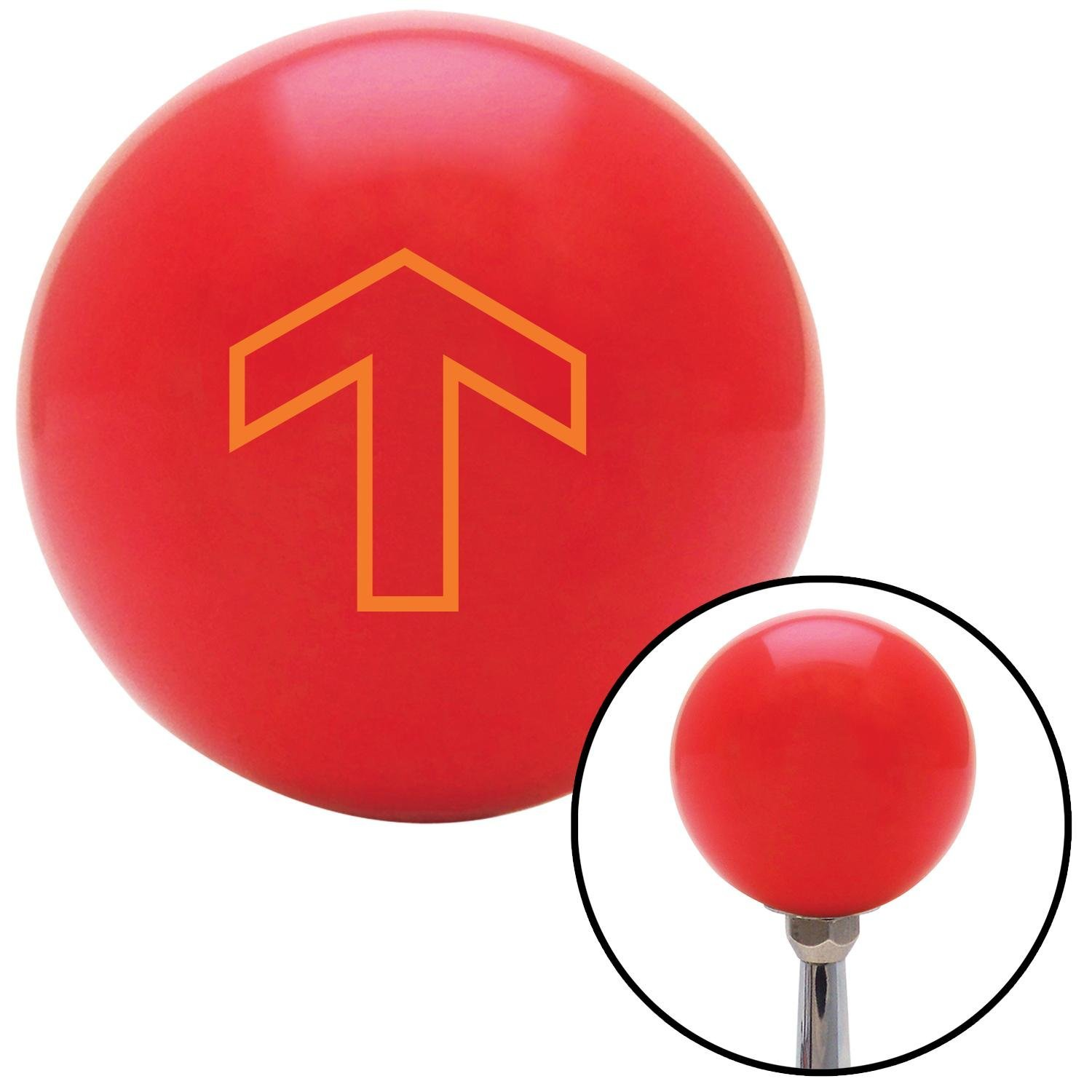 Orange Broad Arrow Up American Shifter 94050 Red Shift Knob with M16 x 1.5 Insert