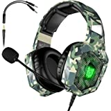 VersionTECH. Gaming Headset - Updated K8 Headset Gaming for PS4 New Xbox One, Stereo Headphones with Microphone & LED Lights compatible with PC Computer Mac Laptop Nintendo Switch Games