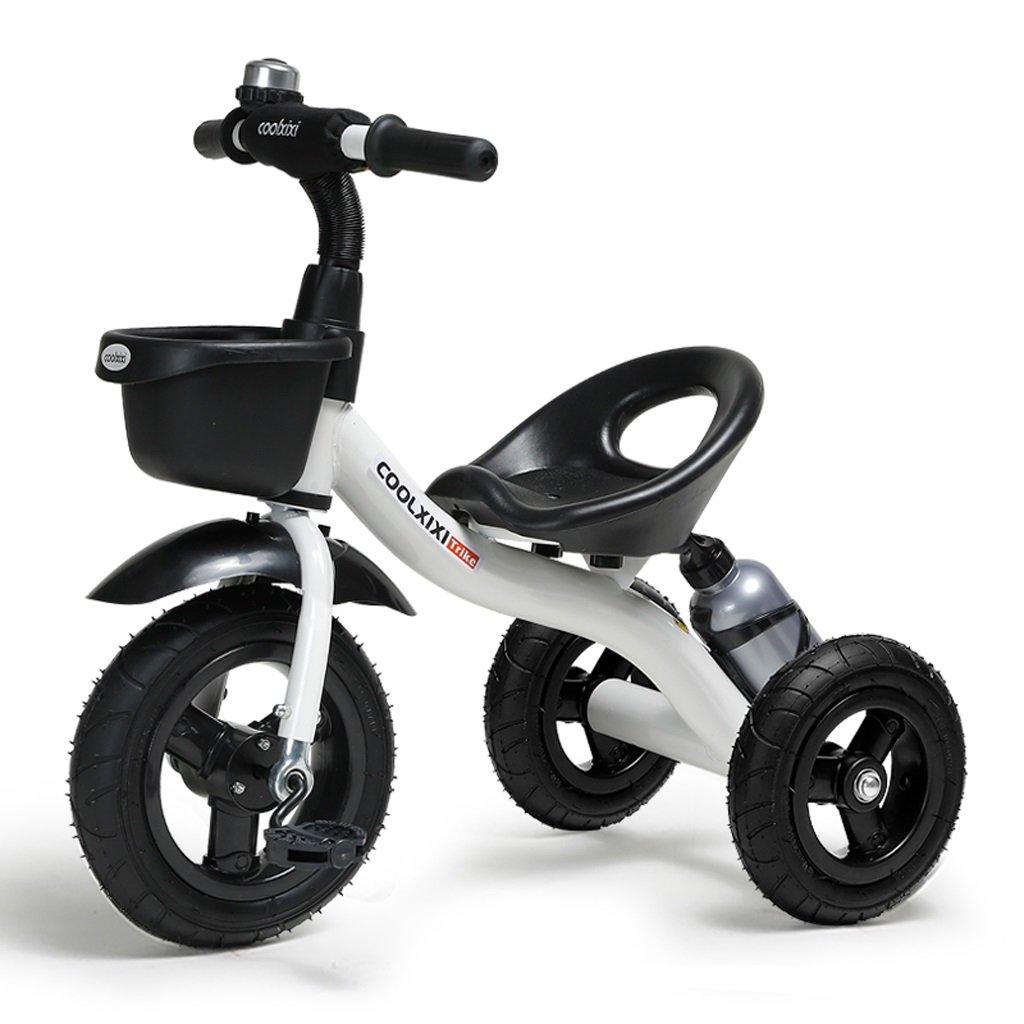 子供の三輪車バイク2-6歳の子供の車の赤ちゃん三輪車、青/ピンク/白/緑、71 * 48 * 58センチメートル ( Color : White ) B07C52LX3N