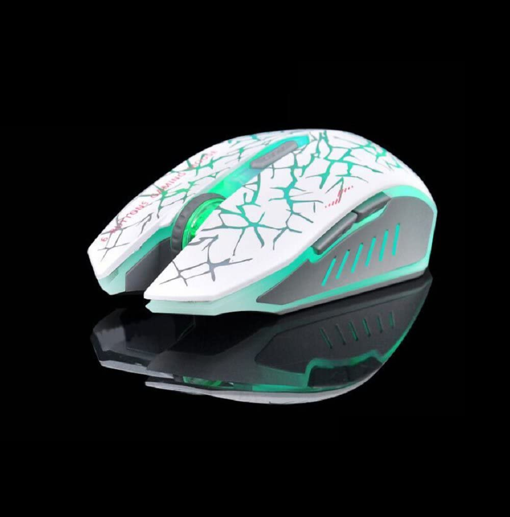 DULPLAY Gaming mouse,Wireless mouse,2.4G portable optical led With usb nano receiver Rechargeable 4 adjustable dpi levels For games-E 13.6x7x4cm 5x3x2inch
