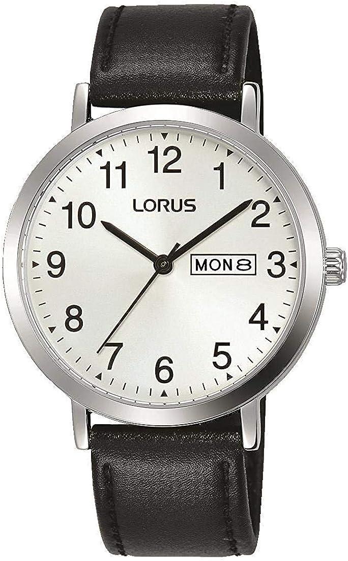 Lorus Classic RH339AX9 - Reloj de pulsera para hombre con correa de piel negra