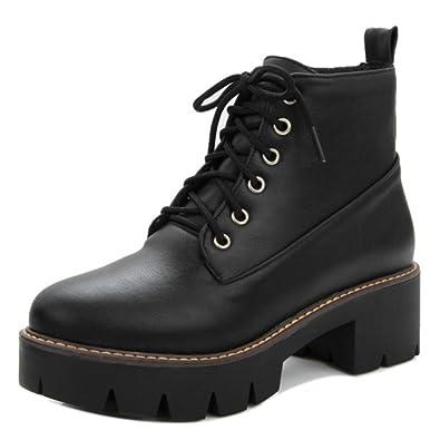 RAZAMAZA Moda Autunno Zapatos Martin Boots Botines Botas de Cordones para Mujer: Amazon.es: Zapatos y complementos