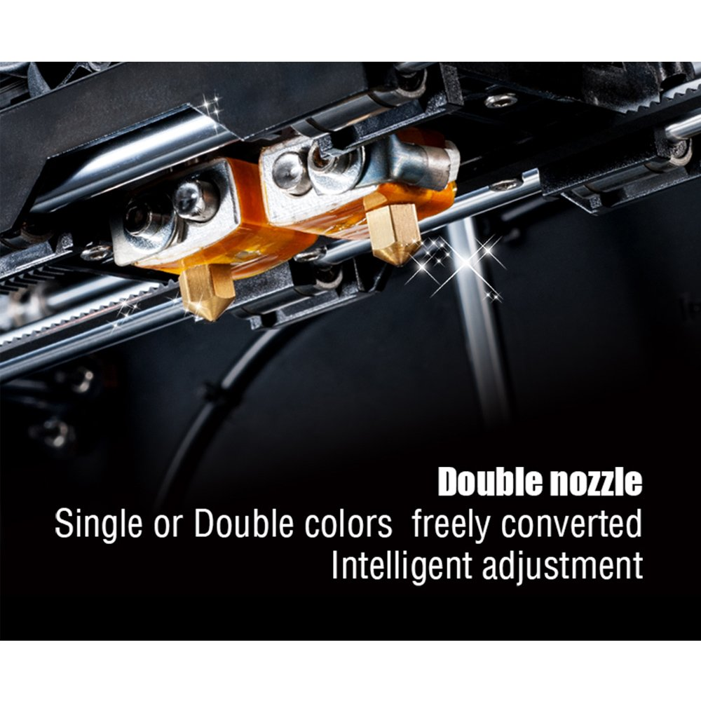 tigtak Negro impresora 3d, Dual de extruder Desktop Rapid ...