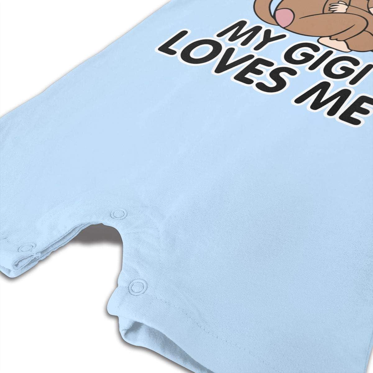 Monkey Gigi Loves Me Baby Bodysuit Playwear Comfortable Short Sleeve Jumpsuit Bath Gift