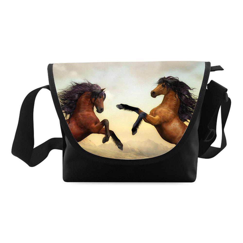 Horse Printed Classic Messenger Bag One-side Printing Messenger Bag