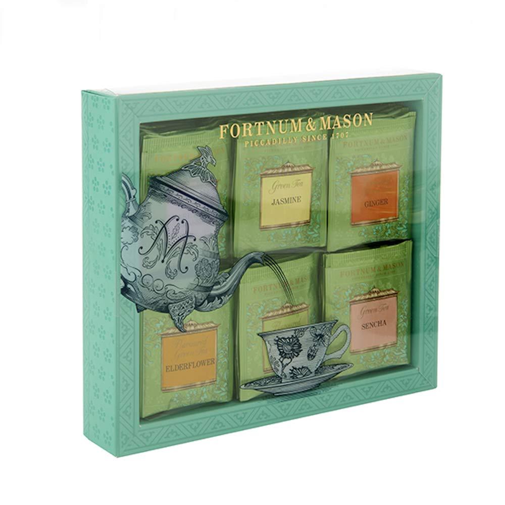 Fortnum & Mason British Tea, Green Tea Bag Selection, 60 Count Tea bags (1 Pack) NEW EDITION - USA Stock