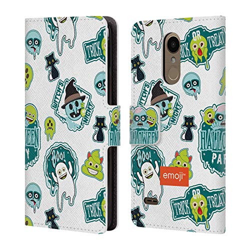Official Emoji Party Halloween Patterns Leather Book Wallet Case Cover for LG K4 (2017) / Phoenix 3 ()