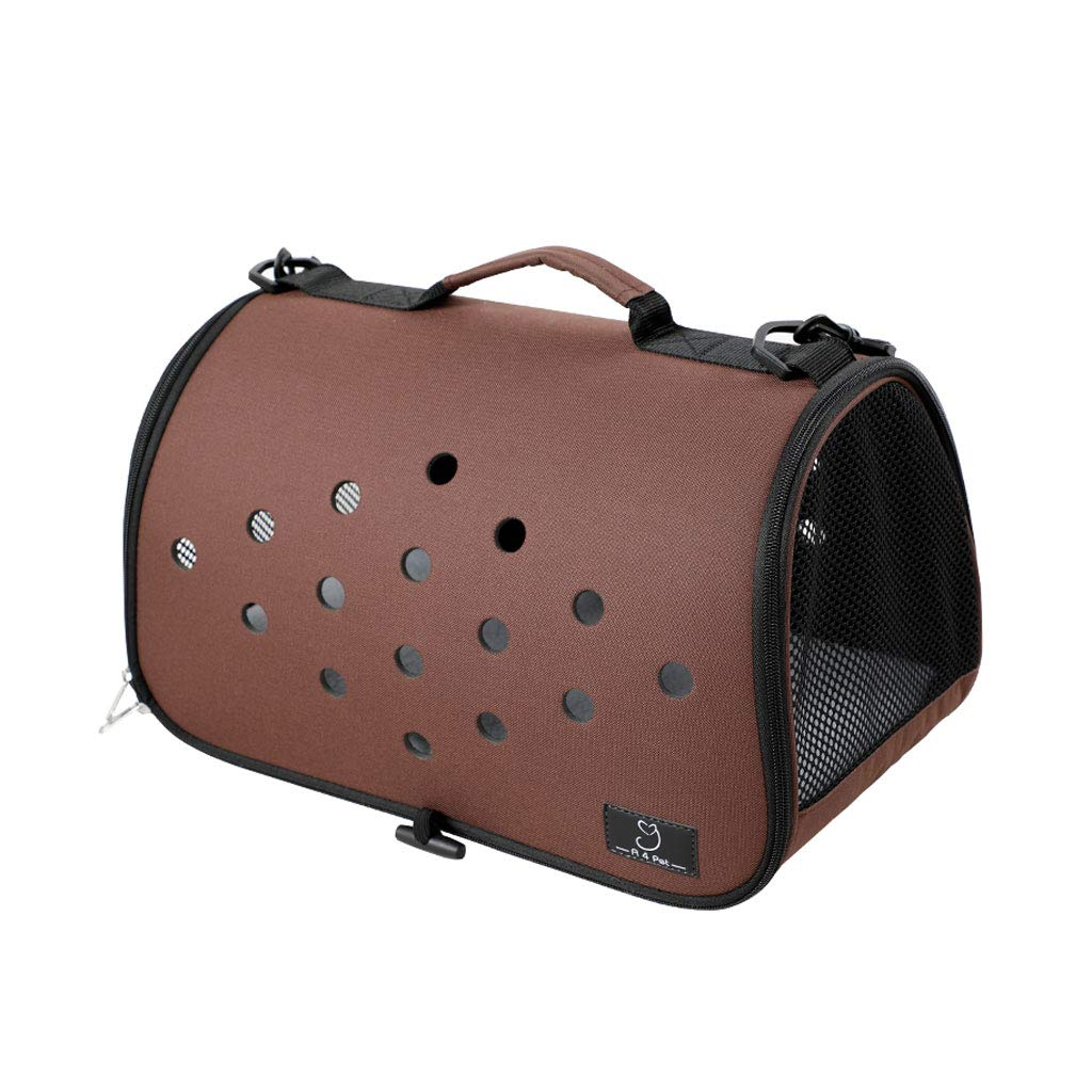 BROWN Pet Bags Pet Products Travel Out Backpack Fold Portable Teddy Dog Bags Cat Bags Bags Handbags Portable (color   Brown)